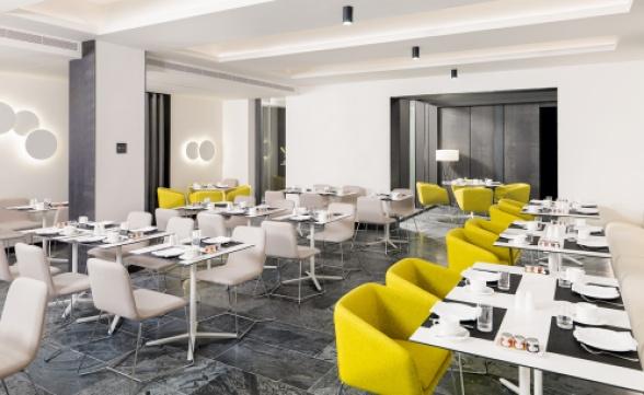 Vista general del Restaurante Paparazzi para desayunos
